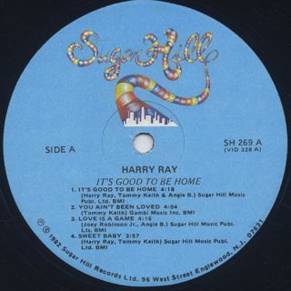 Harry Ray / It's Good To Be Home label
