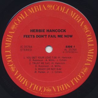 Herbie Hancock / Feets Don't Fail Me Now label