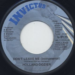 Holland-Dozier / Why Can't We Be Lovers back