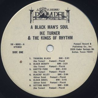 Ike Turner And The Kings Of Rhythm / A Black Man's Soul label
