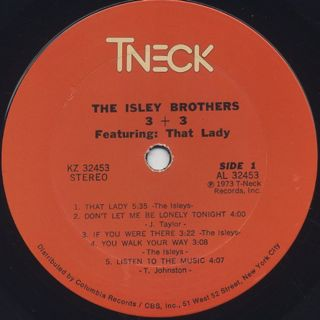 Isley Brothers / 3+3 label