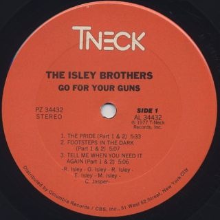 Isley Brothers / Go For Your Guns label