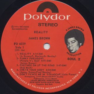 James Brown / Reality label