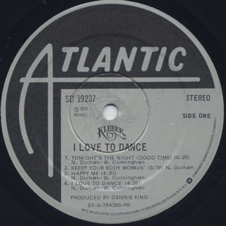 Kleeer / I Love To Dance label
