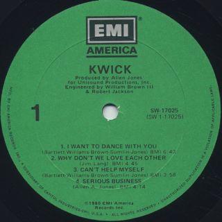 Kwick / S.T. label
