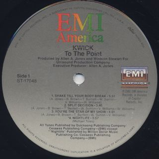 Kwick / To The Point label