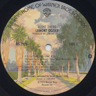 Lamont Dozier / Right There label
