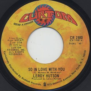 Leroy Hutson / So In Love With You
