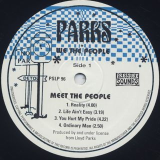Lloyd Parks & We The People / Meet The People label