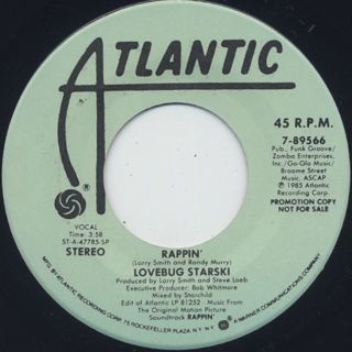 Lovebug Starski / Rappin' back