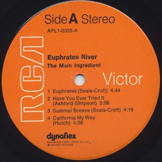Main Ingredient / Euphrates River label