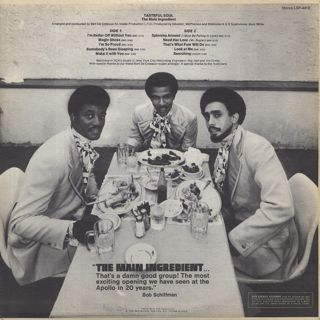 Main Ingredient / Spinning Around back