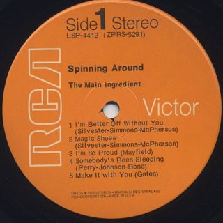 Main Ingredient / Spinning Around label