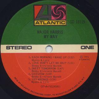 Major Harris / My Way label