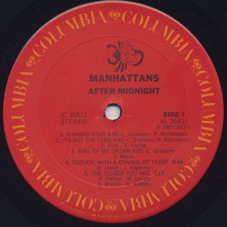 Manhattans / After Midnight label