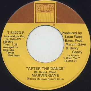 Marvin Gaye / After Dance c/w Feel All My Love Inside back
