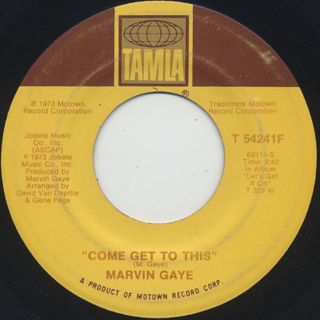 Marvin Gaye / Come Get To This c/w Distant Lover back