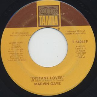 Marvin Gaye / Come Get To This c/w Distant Lover