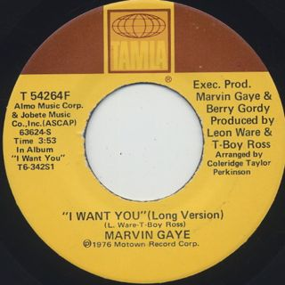 Marvin Gaye / I Want You (45)