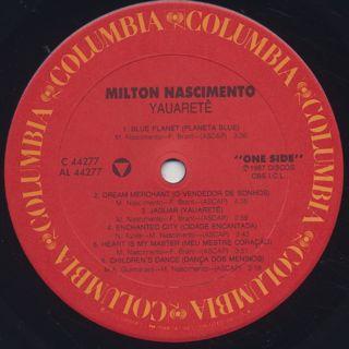 Milton Nascimento / Yauarete label