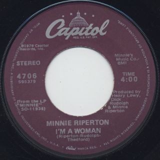 Minnie Riperton / Memory Lane c/w I'm A Woman