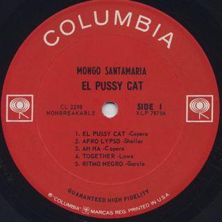 Mongo Santamaria / El Pussy Cat label