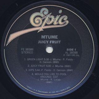 Mtume / Juicy Fruit (LP) label