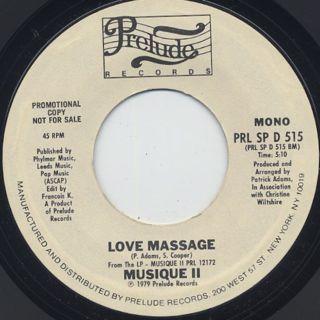 Musique II / Love Massage back