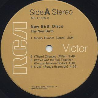 New Birth / New Birth Disco label