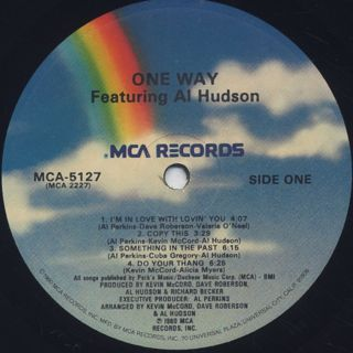 One Way featuring Al Hudson / One Way featuring Al Hudson label