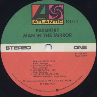 Passport / Man In The Mirror label