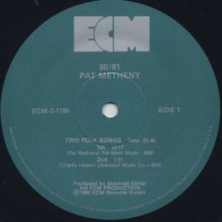 Pat Metheny / 80/81 label