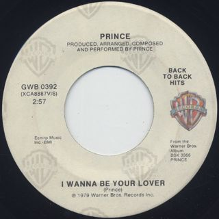 Prince / I Wanna Be Your Lover c/w My Love Is Forever