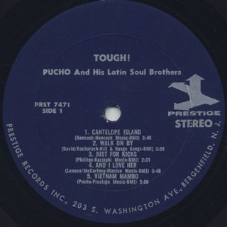 Pucho & The Latin Soul Brothers / Tough! label