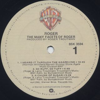 Roger / The Many Facets Of Roger label