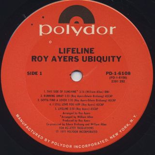 Roy Ayers Ubiquity / Lifeline label
