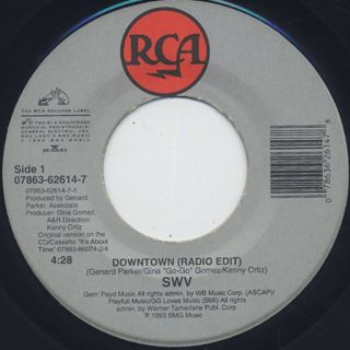 SWV / Downtown c/w Right Here/Human Nature back