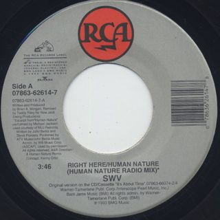 SWV / Right Here/Human Nature (EX)