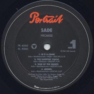 Sade / Promise label