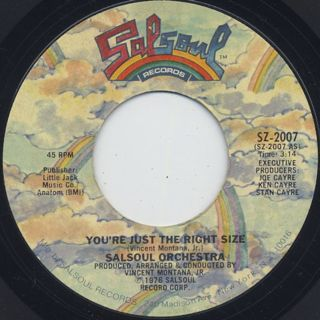 Salsoul Orchestra / You're Just The Right Size front