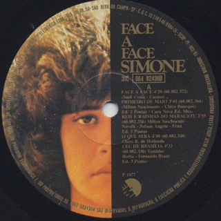 Simone / Face A Face label