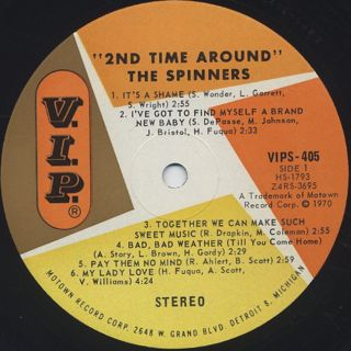 Spinners / 2nd Time Around label