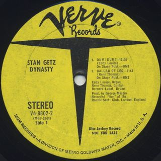 Stan Getz / Dynasty label