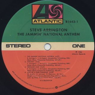 Steve Arrington / The Jammin' National Anthem label