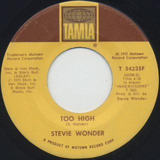 Stevie Wonder / Higher Ground c/w Too High