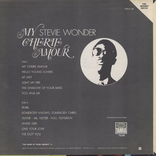 Stevie Wonder / My Cherie Amour back