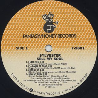 Sylvester / Sell My Soul label