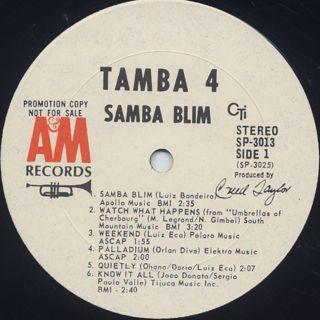 Tamba 4 / Samba Blim label