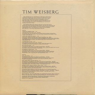 Tim Weisberg / S.T. back