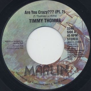 Timmy Thomas / Are You Crazy? front